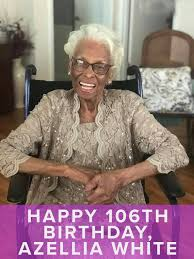 Azellia White Beautiful and Happy at 106